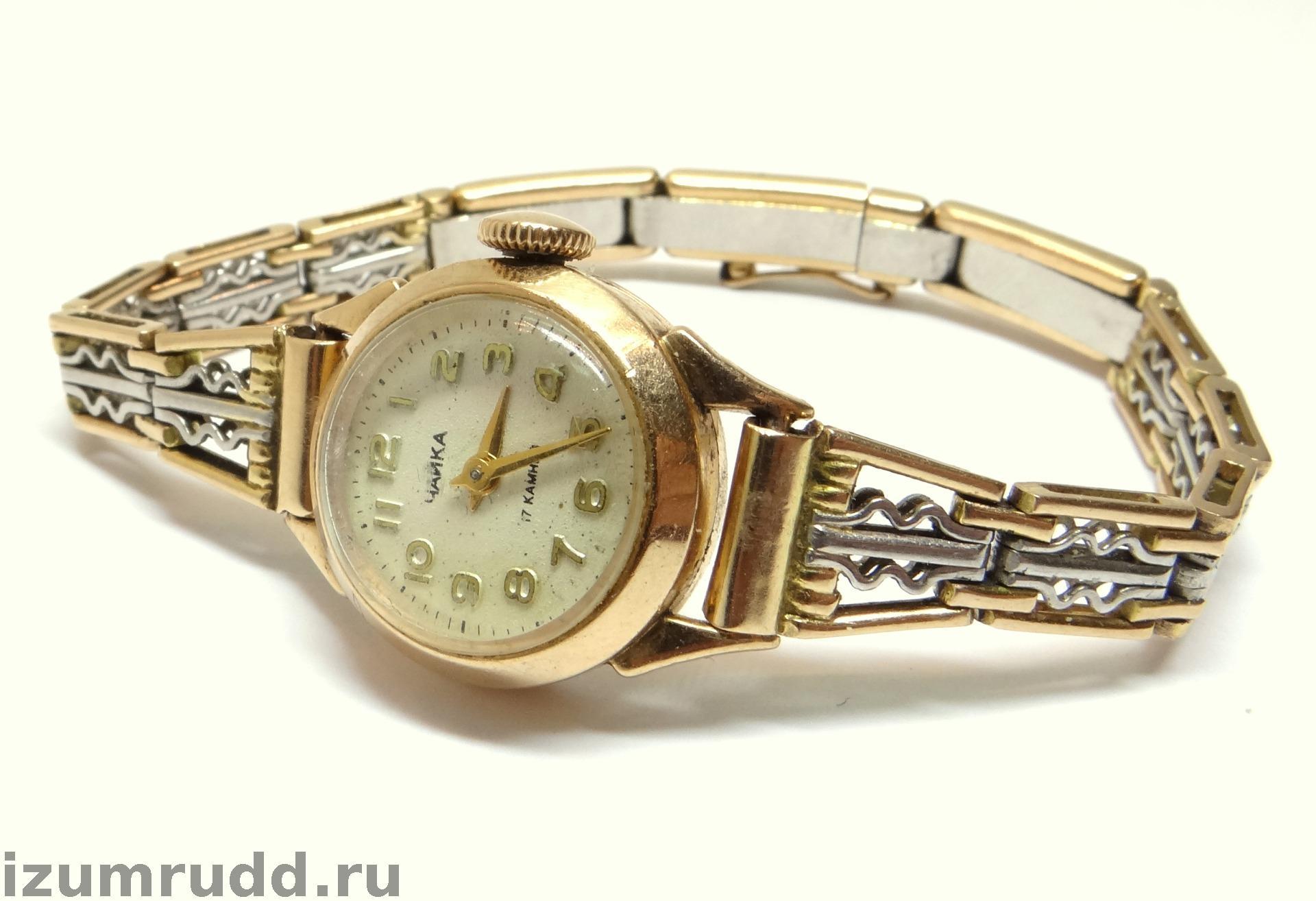 925ea4c6 Советские женские золотые часы Чайка на браслете. Товар в наличии