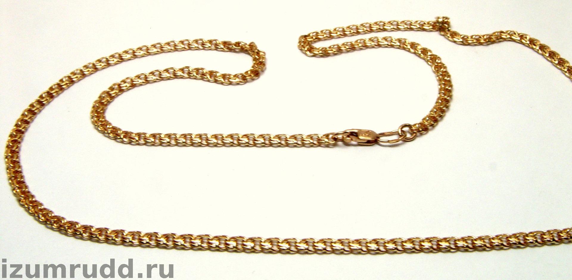 Золотая цепочка плетение бисмарк 55 см