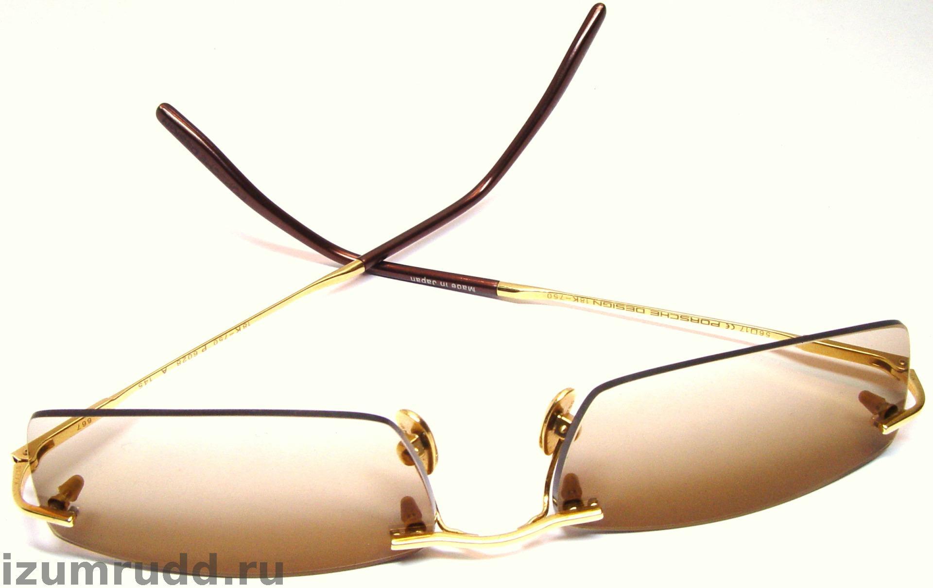 Очки порше дизайн золотые