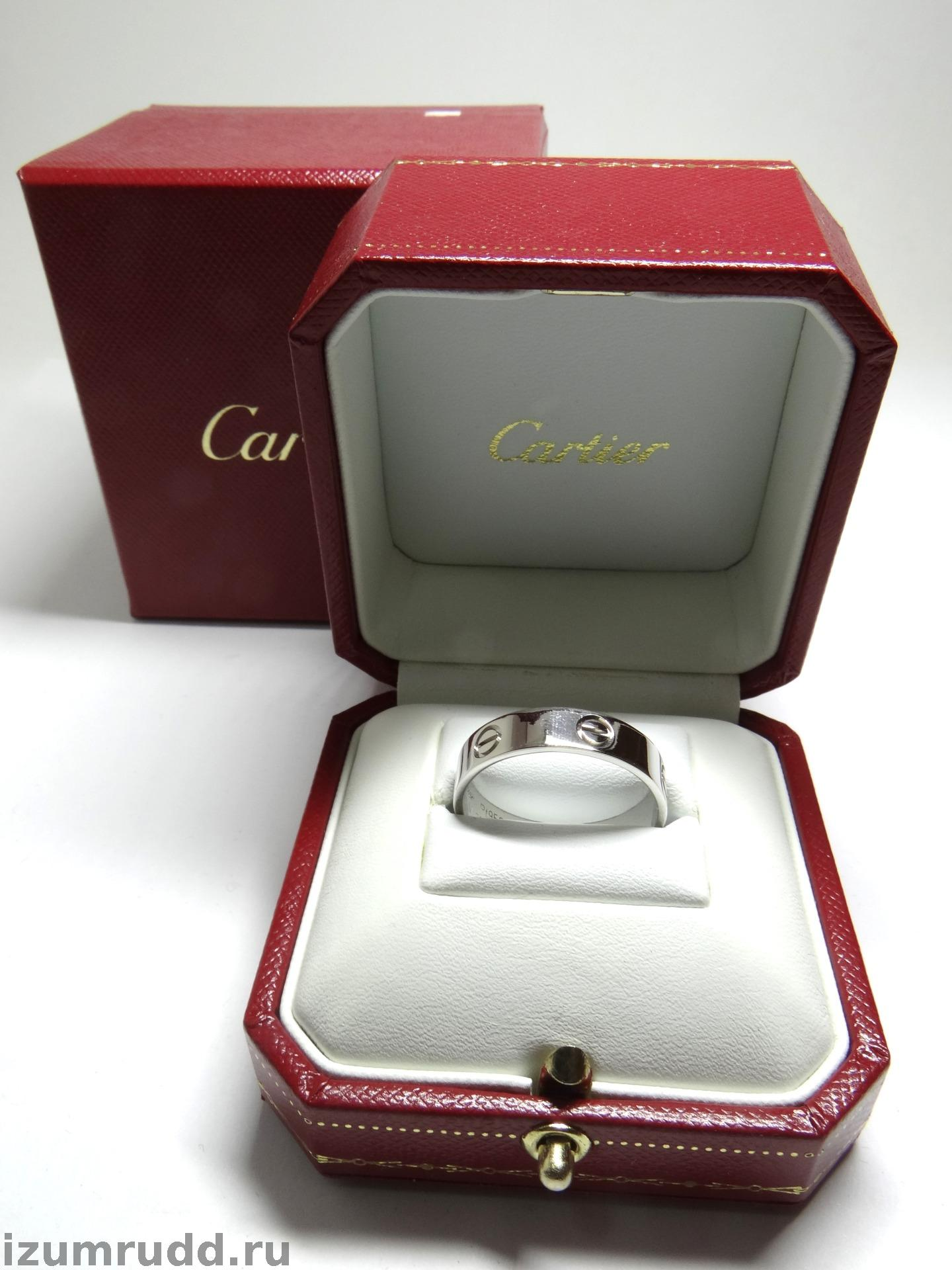 ddef28cf393c Обручальное кольцо Cartier Love, платина, оригинал