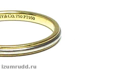 f4fefea70eb3 Обручальное кольцо Tiffany, золото, платина, оригинал