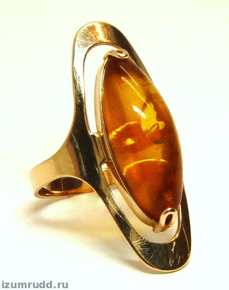 Золотое кольцо с янтарем SUNLIGHT 104000192493ya*: красное и розовое золото,  янтарь — купить в интернет-магазине ... | 948x749